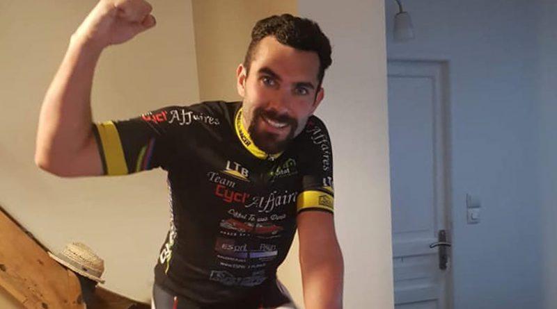 Cyclisme : Elie Regost roule pendant 24h et 700 km sur son home trainer